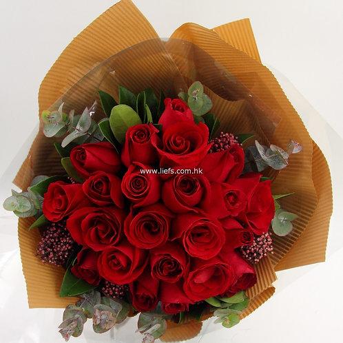 20支紅玫瑰-花束-85