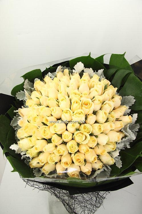 R9912-99枝香檳玫瑰配襯花
