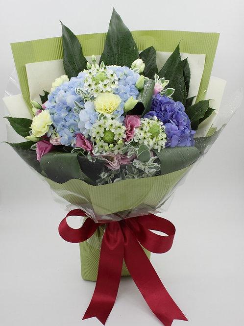 藍色繡球花束2