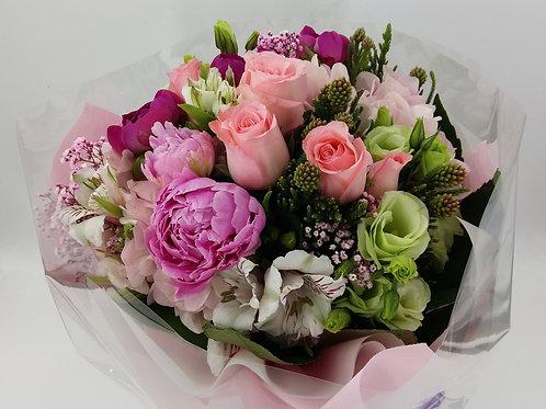 牡丹+玫瑰+桔梗-花束-125