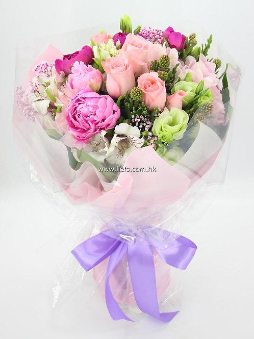 玫瑰+牡丹-花束76