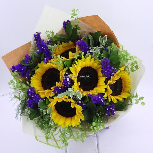 向日葵-花束-98