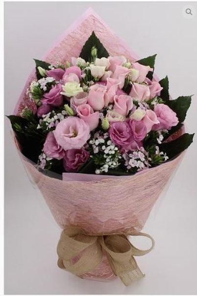 玫瑰+桔梗-花束-120