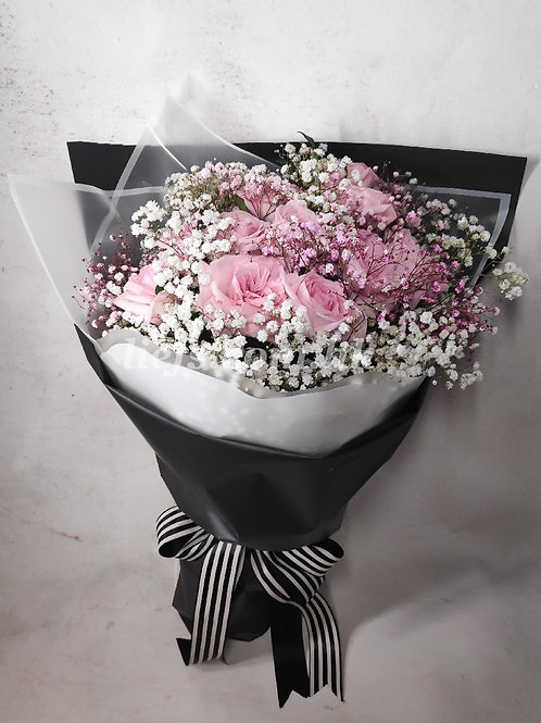 玫瑰花配星花9-7-16