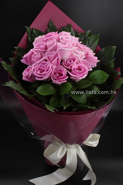 R207-20枝玫瑰配襯葉