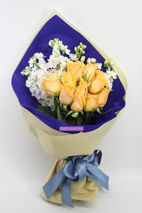GR04-10支玫瑰+襯花