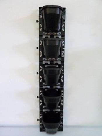 5孔花牆組連四方黑盆
