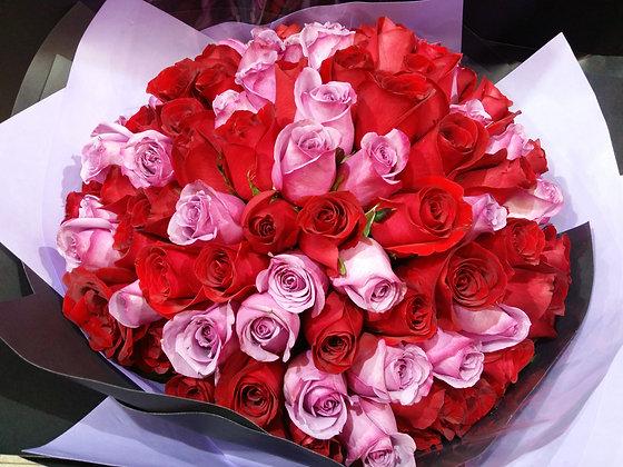 R9907-99枝玫瑰雙色
