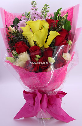 馬蹄蘭+玫瑰-花束-105