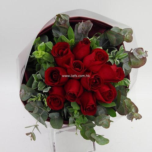紅玫瑰-花束-83