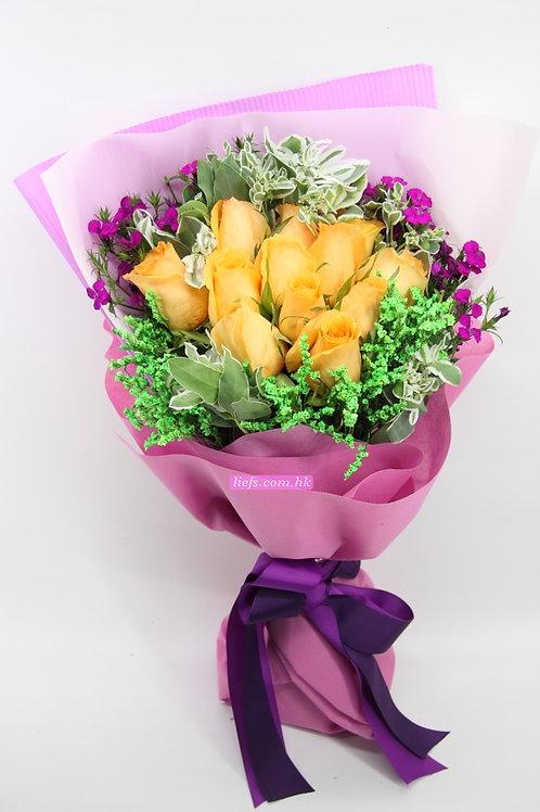 GR05-12支玫瑰+襯花