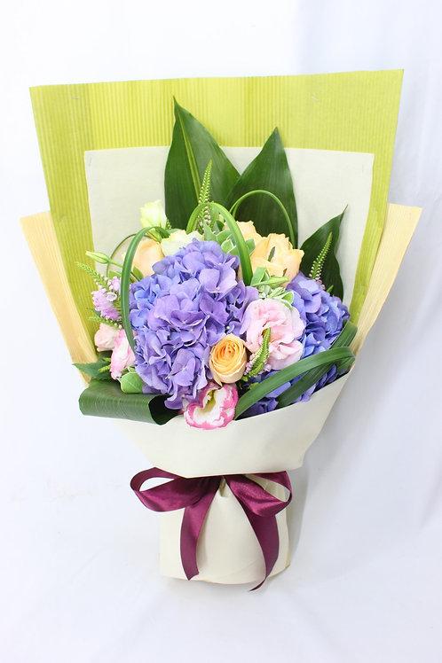 藍色繡球花束1