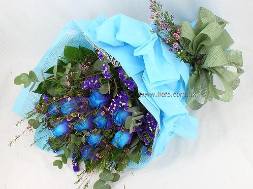 11支-藍玫瑰-花束-32