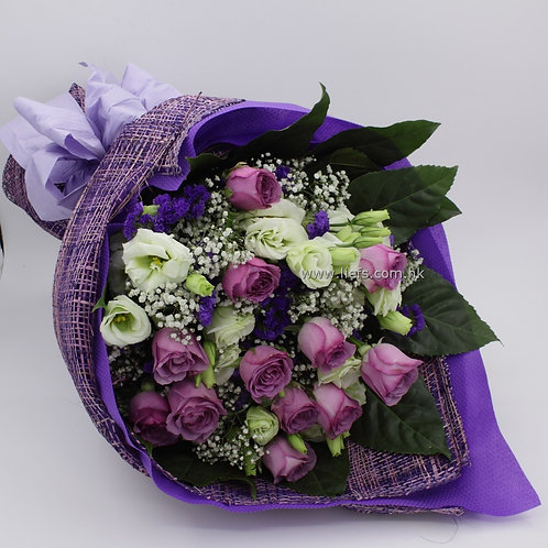 情人節-11支藍/紫玫瑰花束26