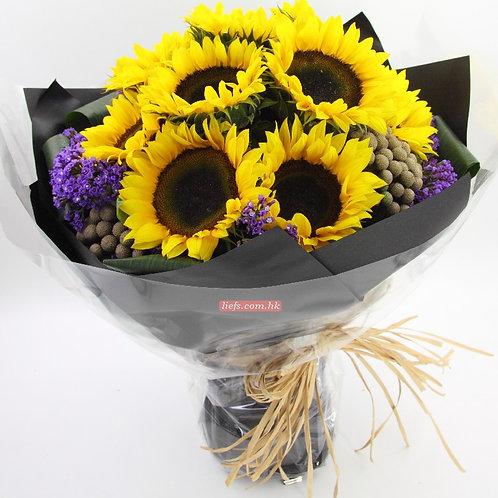 SUN01-向日葵10支+襯花