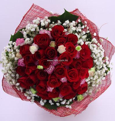 50支紅玫瑰-花束-89