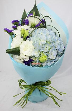 GH16-單支鏽球+桔梗+襯花