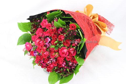 情人節-鑽石玫瑰花束10