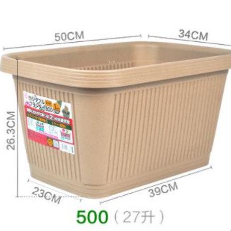 菜盆-茶色-500