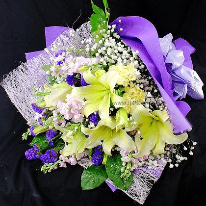 L04-百合+襯花