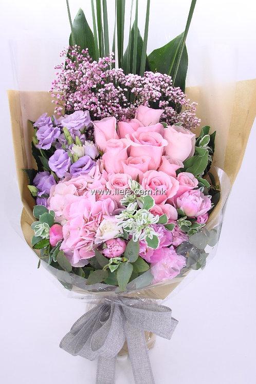 鏽球+玫瑰-花束61