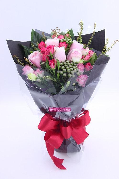 R06-玫瑰6支+小玫瑰