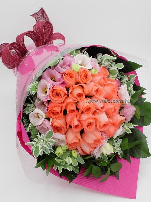 情人節-18支玫瑰花束22