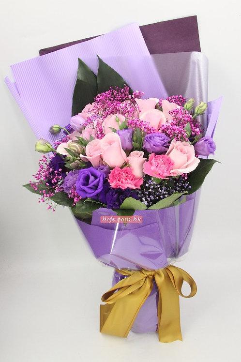 RP03-玫瑰12支+桔梗+襯花