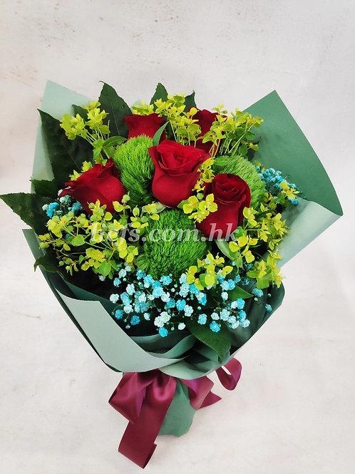 玫瑰花配襯花11-7-37