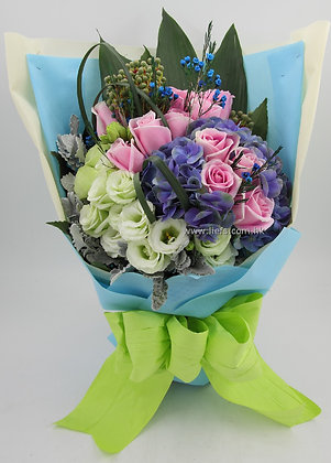 鏽球玫瑰花束56