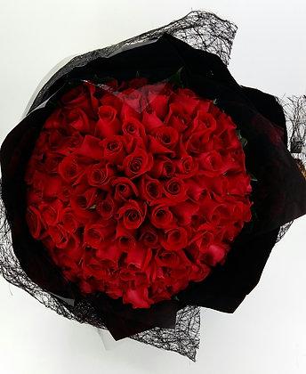 R9909-99枝紅玫瑰