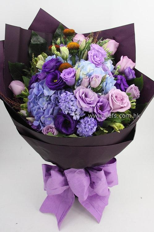 紫玫花束53