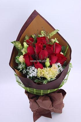 紅玫瑰-花束-86