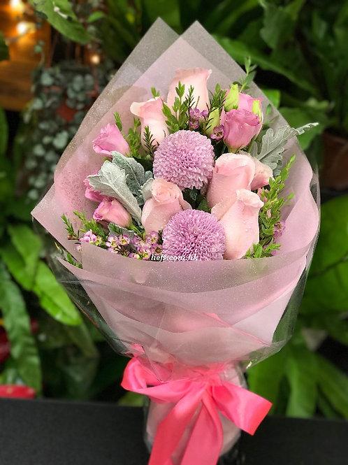R101-玫瑰+配襯花