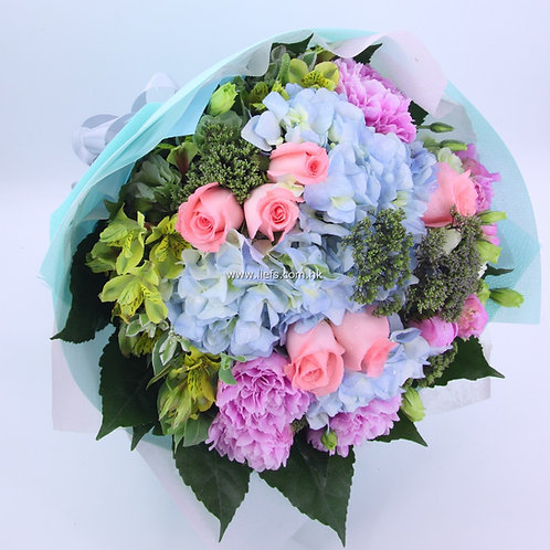 鏽球+玫瑰-花束-91