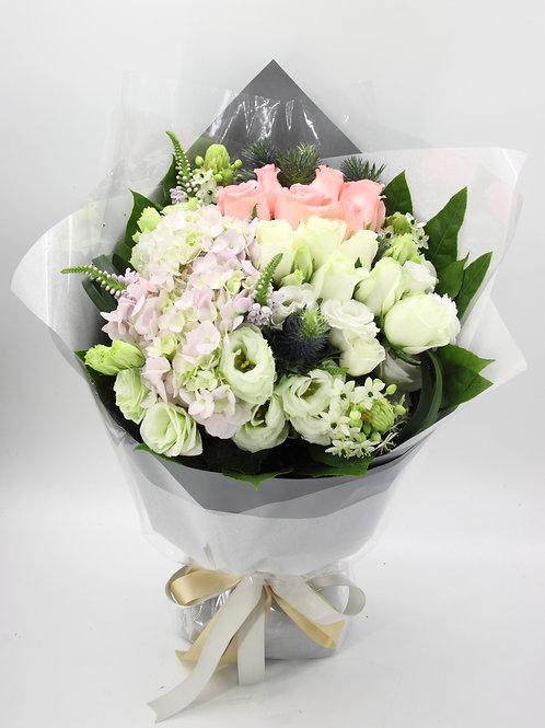 玫瑰+桔梗-花束-121