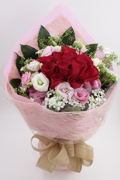 紅玫瑰-花束-01