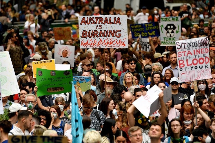 Poor government action on climate change caused public outrage.