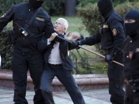 The Great-Grandmother Fighting Riot Police in the Name of Democracy