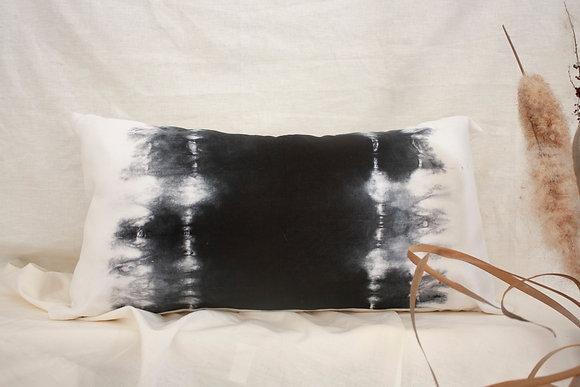 Charcoal Ombre Cushion | Hemp Canvas