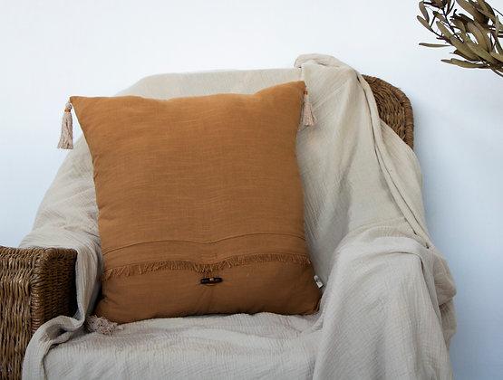 Rusty Fringe Scatter Cushion