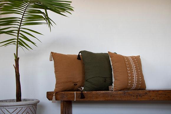 Moss :: Fringe Scatter Cushion