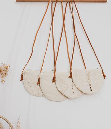 Tribal-Moon Hemp Sling Bag