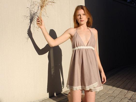 Gemstone Summer Linen Dress