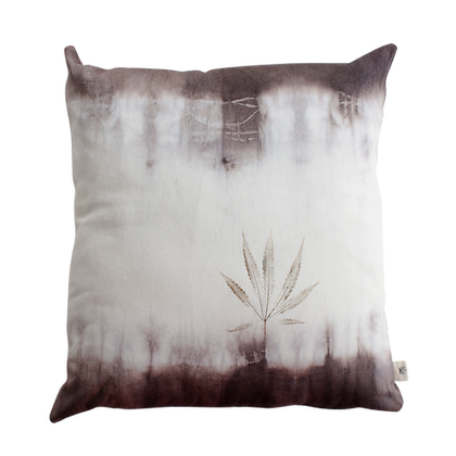Coffee Ombre & Leaf Print | Scatter Cushion
