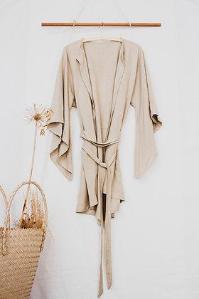 Aurora Kimono :: stonewashed cotton linen