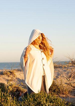 Hooded Organic Hemp Fleece Poncho
