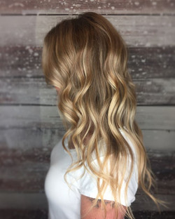Added a few highlights & lowlights to brighten up this blonde