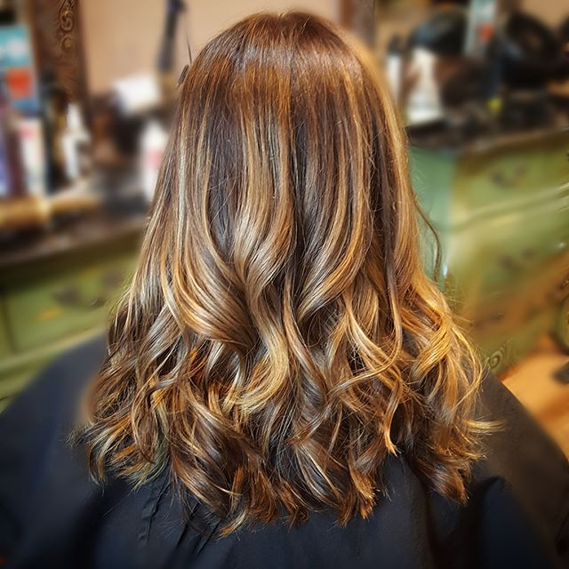 The w😍rks!!! Color, Balayage, cut & style by Sarah 💕___jonesycat #salonamnesia #losgatoshairstylis
