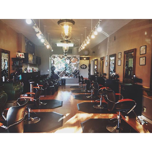 This morning while the salon was calm and bright